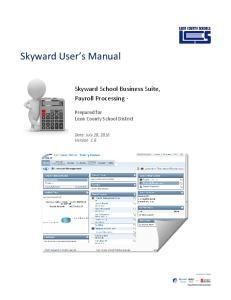 Skyward User s Manual
