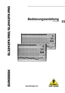 SL2442FX-PRO. Bedienungsanleitung A