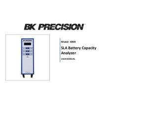 SLA Battery Capacity Analyzer