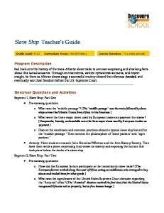 Slave Ship: Teacher s Guide
