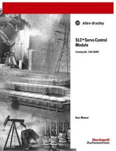 SLC tm Servo Control Module
