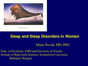 Sleep and Sleep Disorders in Women