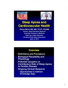Sleep Apnea and Cardiovascular Health