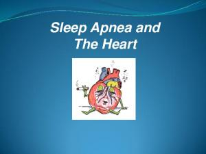 Sleep Apnea and The Heart
