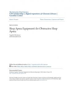 Sleep Apnea Equipment s for Obstructive Sleep Apnea