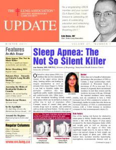 Sleep Apnea: The Not So Silent Killer