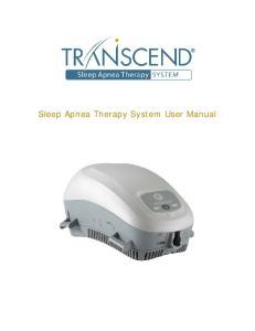 Sleep Apnea Therapy System User Manual