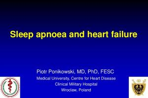 Sleep apnoea and heart failure
