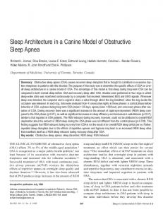 Sleep Architecture in a Canine Model of Obstructive Sleep Apnea