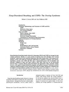 Sleep-Disordered Breathing and COPD: The Overlap Syndrome
