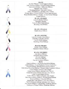 Sleep Disorders Ribbons. Students for Gun Control Ribbons Trauma Ribbons