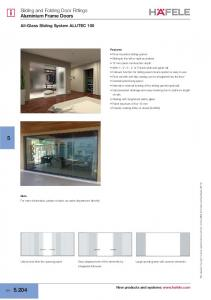 Sliding and Folding Door Fittings Aluminium Frame Doors