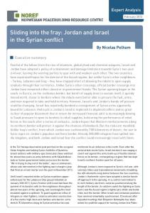 Sliding into the fray: Jordan and Israel in the Syrian conflict