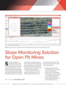 Slope Monitoring Solution for Open Pit Mines