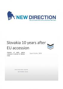 Slovakia 10 years after EU accession