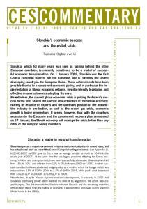 Slovakia s economic success and the global crisis