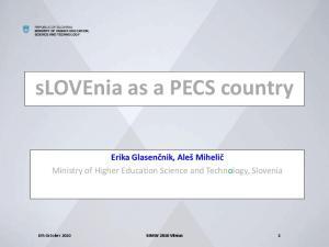 slovenia as a PECS country