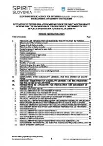 SLOVENIAN PUBLIC AGENCY FOR ENTREPRENEURSHIP, INNOVATION, DEVELOPMENT, INVESTMENT AND TOURISM