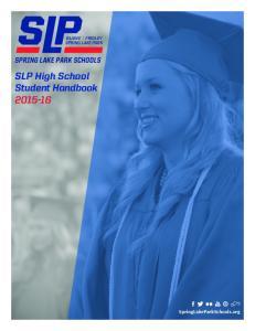 SLP High School Student Handbook