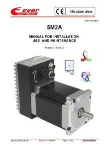 SM2A MANUAL FOR INSTALLATION USE AND MAINTENANCE