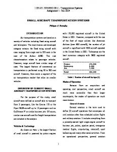 SMALL AIRCRAFT TRANSPORTATION SYSTEMS