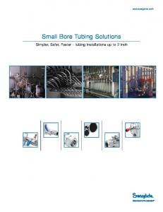 Small Bore Tubing Solutions