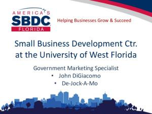 Small Business Development Ctr. at the University of West Florida