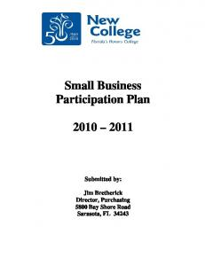 Small Business Participation Plan