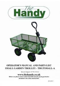 SMALL GARDEN TROLLEY - THGTSMALL-A. Sales & Support: