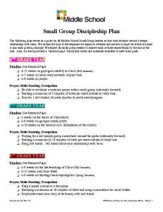 Small Group Discipleship Plan
