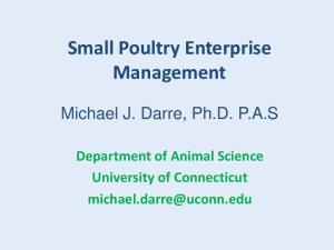 Small Poultry Enterprise Management