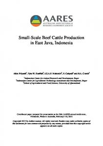 Small-Scale Beef Cattle Production in East Java, Indonesia
