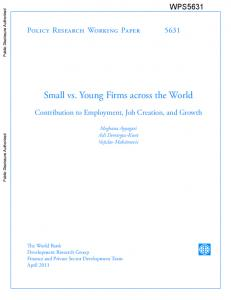Small vs. Young Firms across the World