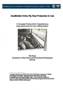 Smallholder Swine-Pig Meat Production in Asia