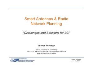 Smart Antennas & Radio Network Planning