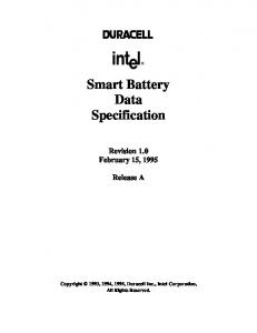 Smart Battery Data Specification