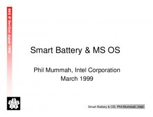 Smart Battery & MS OS