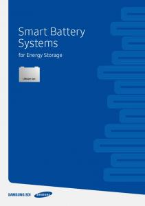 Smart Battery Systems. for Energy Storage
