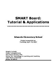 SMART Board: Tutorial & Applications