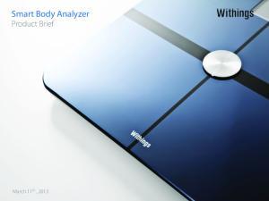 Smart Body Analyzer Product Brief