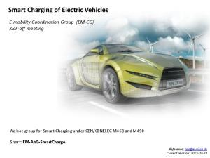 Smart Charging of Electric Vehicles