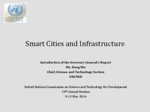 Smart Cities and Infrastructure