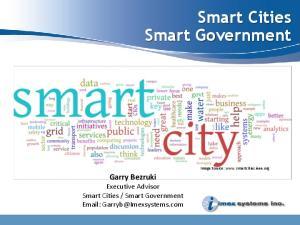 Smart Cities Smart Government