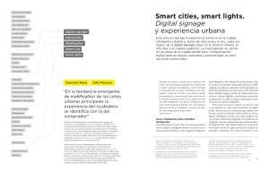 Smart cities, smart lights. Digital signage y experiencia urbana