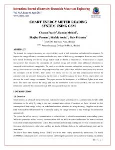 SMART ENERGY METER READING SYSTEM USING GSM