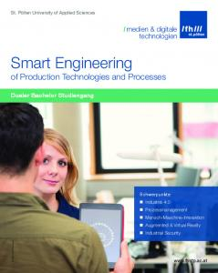 Smart Engineering of Production Technologies and Processes