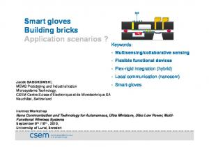 Smart gloves Building bricks Application scenarios?