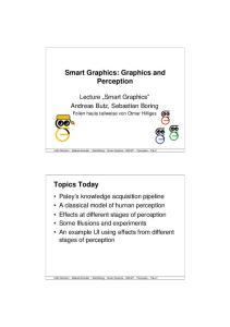 Smart Graphics: Graphics and Perception