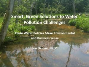 Smart, Green Solutions to Water Pollution Challenges