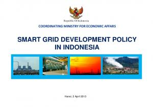 SMART GRID DEVELOPMENT POLICY IN INDONESIA